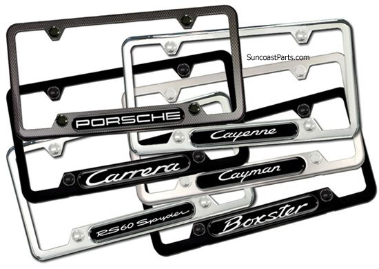 Porsche License Plate Frames Many Styles To Choose Many