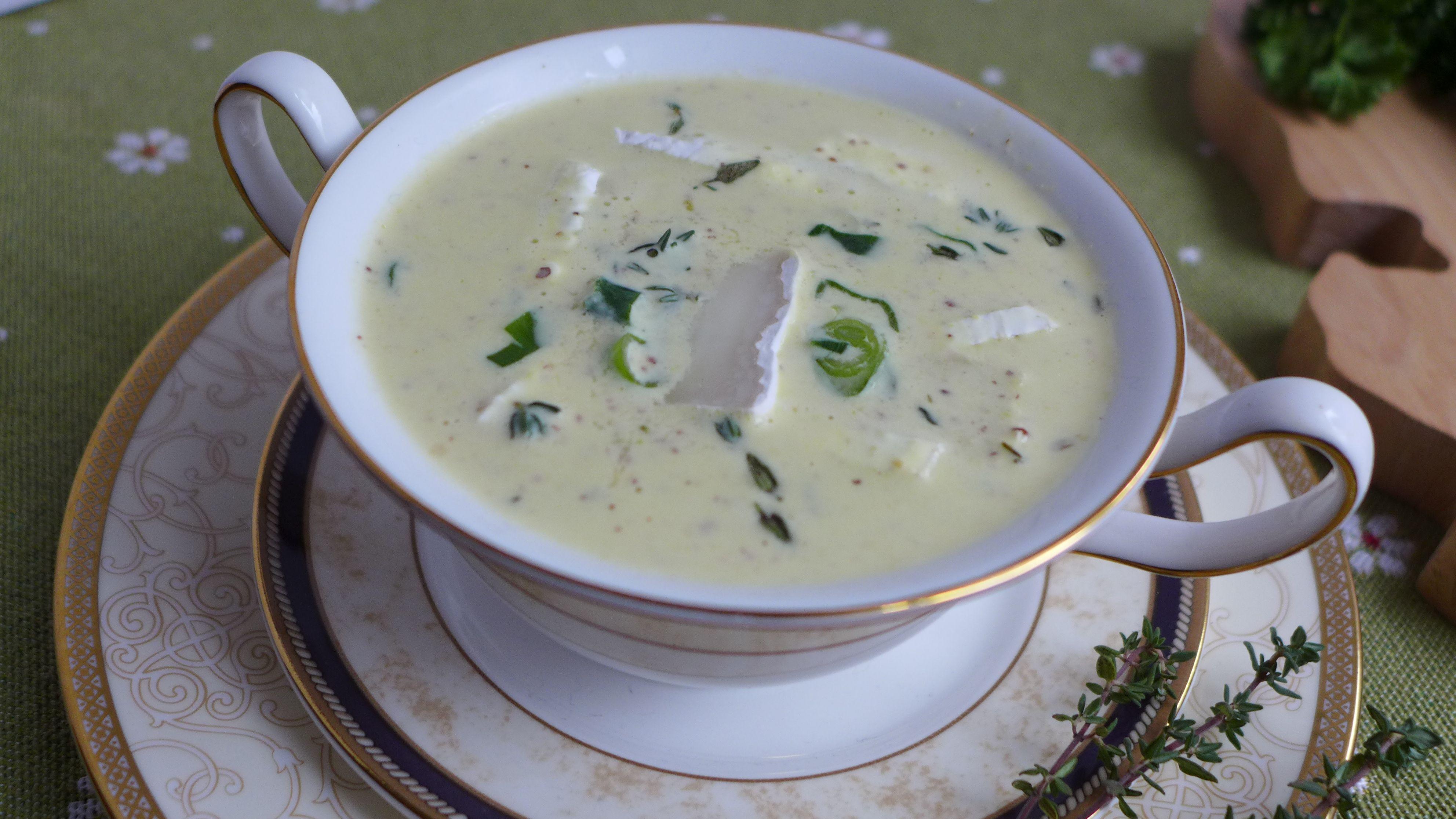 Лимбургский горчичный суп с мягким сыром бри