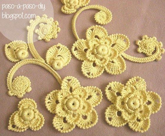 El crochet irlands irish crochet tiene una gran belleza crochet flower patterns dt1010fo