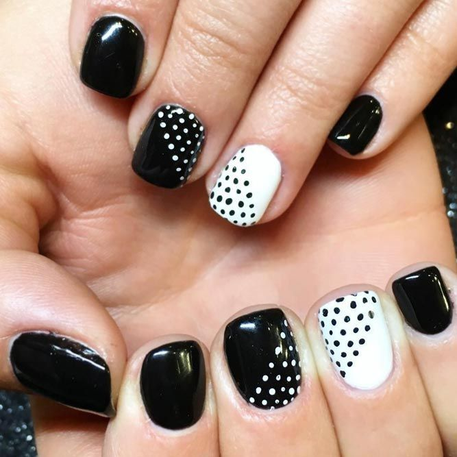 Simple Nail Designs For Short Nails To Do At Home ☆ See More: Https: