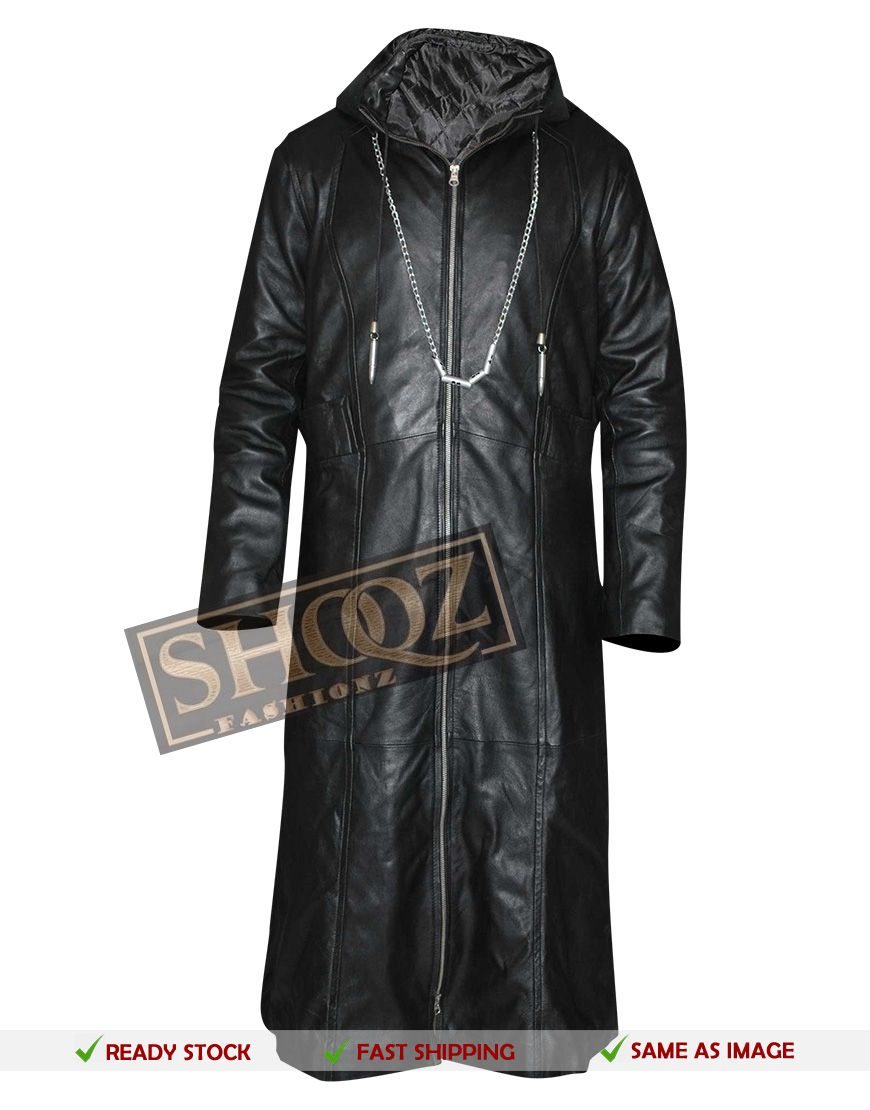 50 Off Kingdom Hearts Cosplay Costume Organization 13 Enigma Coat Leather Hoodie Leather Jacket Men Kingdom Hearts Cosplay [ 1110 x 870 Pixel ]