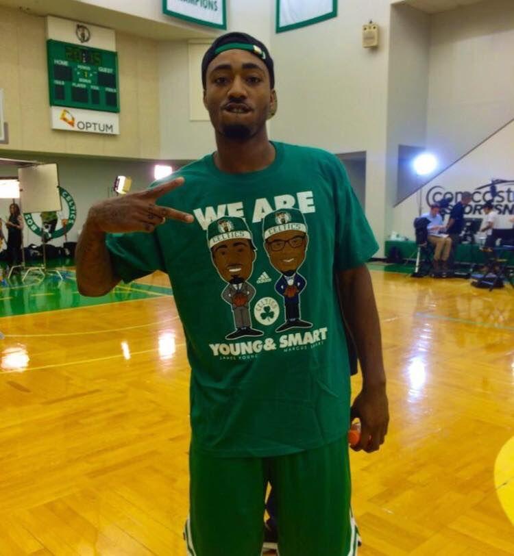 We are 'Young and Smart' apparel. (via Celticsblog | Boston Celtics Media Day 2014 | September 29, 2014)