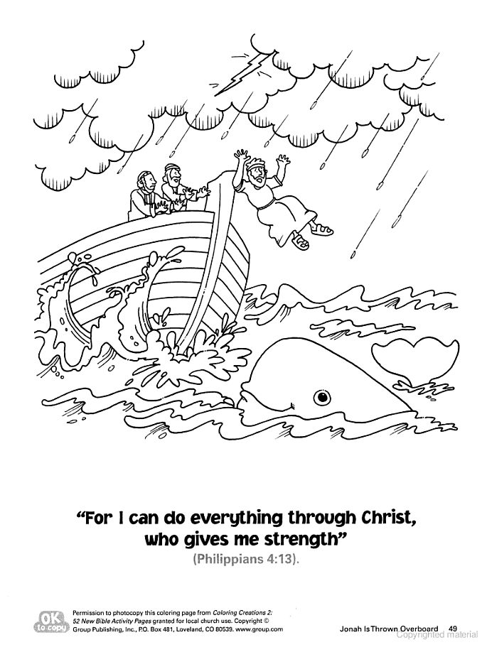 Printable Worksheets jonah and the whale worksheets : Coloring Creations 2: 52 Bible Activity Pages - Group Publishing ...