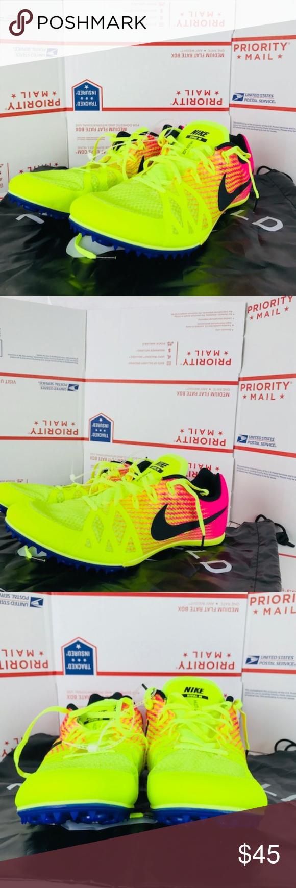 wholesale dealer b9996 c4e8d MenNike Zoom Rival MD 8 806555-999 Pink Volt Sz 12 Nike Zoom Rival MD