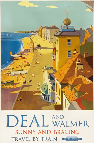 Vintage British Rail Broadstairs Kent Railway Poster Print A3//A4