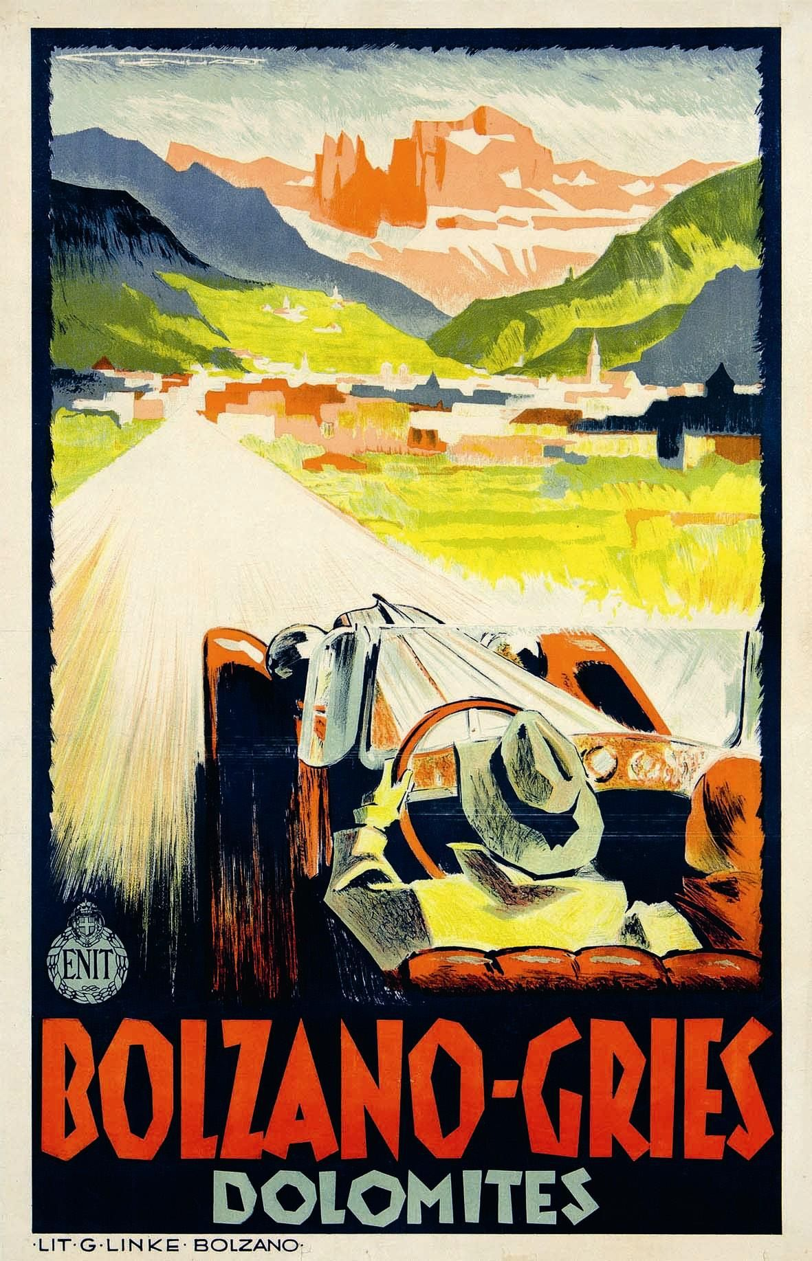 Old advertising of Trentino - Italy