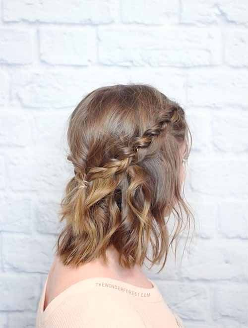 Half Up Hairstyles For Short Hair For Prom 36