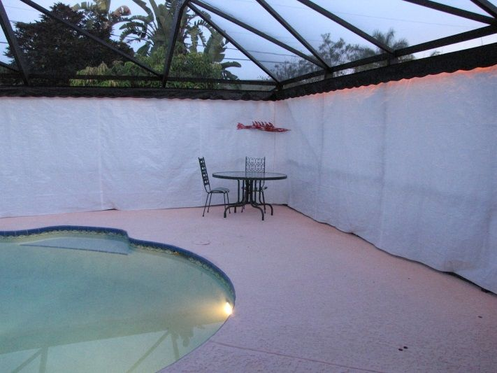 Custom Outdoor Privacy Curtains For Your Pool Area Or Lanai Outdoor Privacy Outdoor Curtains Lanai
