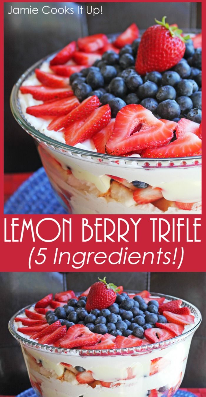 Lemon Berry Trifle (Five Ingredients!)