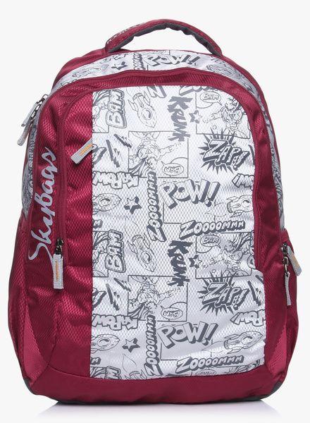 ee02d38ba58 Buy Skybags Footloose Helix 02 Maroon Backpack for Men Online India ...