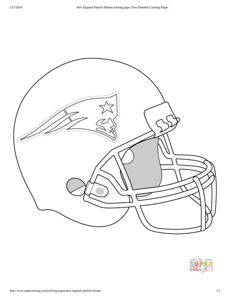 Patriots Coloring Sheets And Pages Football Food New New England