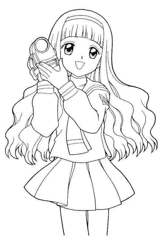 Card Captors Sakura Bring A Camera | Anime & Manga Coloring Pages ...