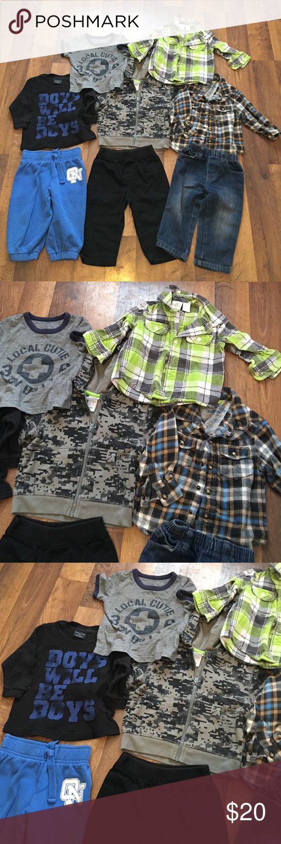 12 Months Infant boys Lot💕 Great condition 💕 12 month boys lot great condition 💋 make your own bundle and save Osh Kosh Matching Sets