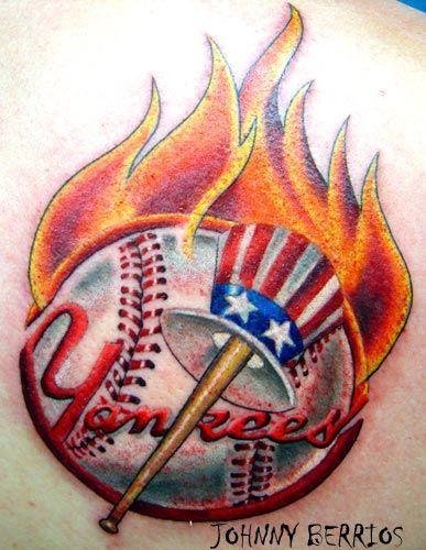 New york yankee tattoos patriotic new york tattoos for New york yankees tattoos designs