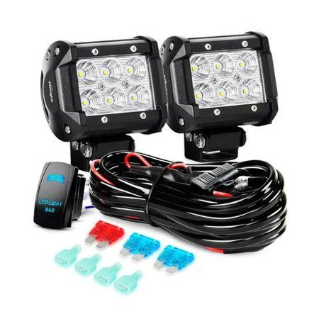 nilight led light bar 2pcs 4 inch 18w flood led off road  72w led light bar rgb cree led