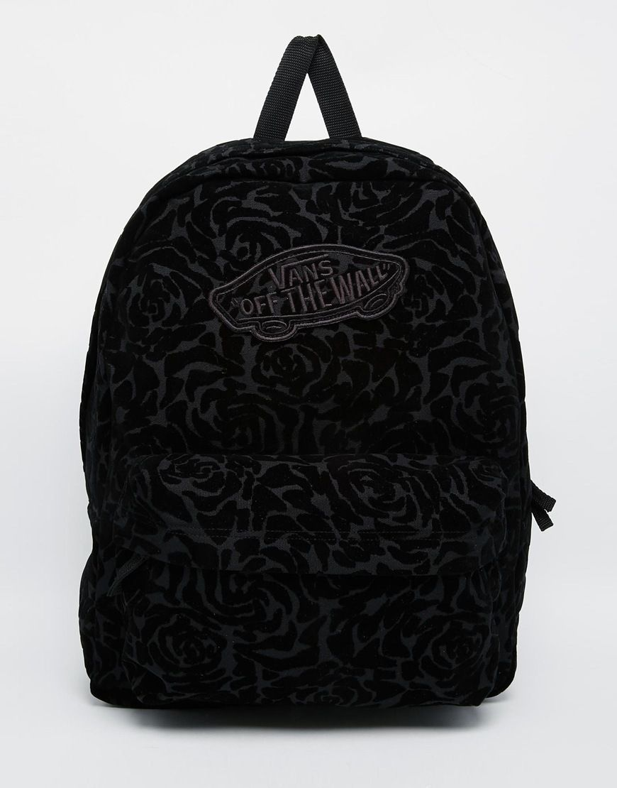 Vans+Realm+Backpack+In+Floral+Velvet  1ffe5920ec3