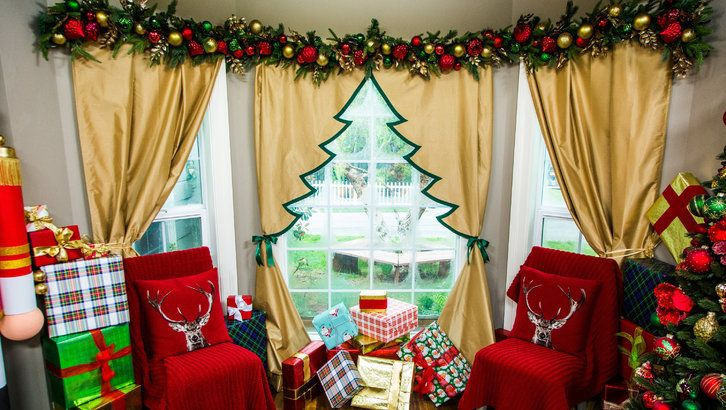 How To Diy Christmas Tree Curtain Hallmark Channel Home And