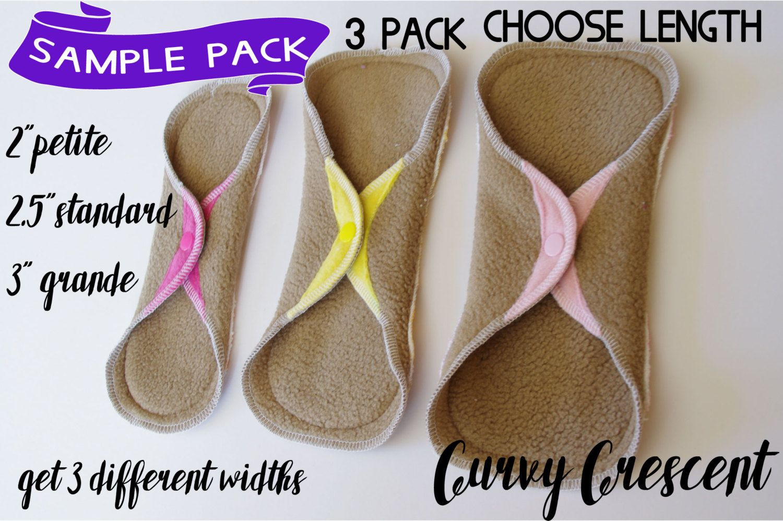 Cloth pad starter set CSP Bundle , Sample cloth pads sets of 3 ...
