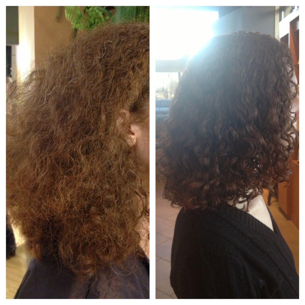 Before And After The Ouidad Haircut Using The Amazing Curlyhair