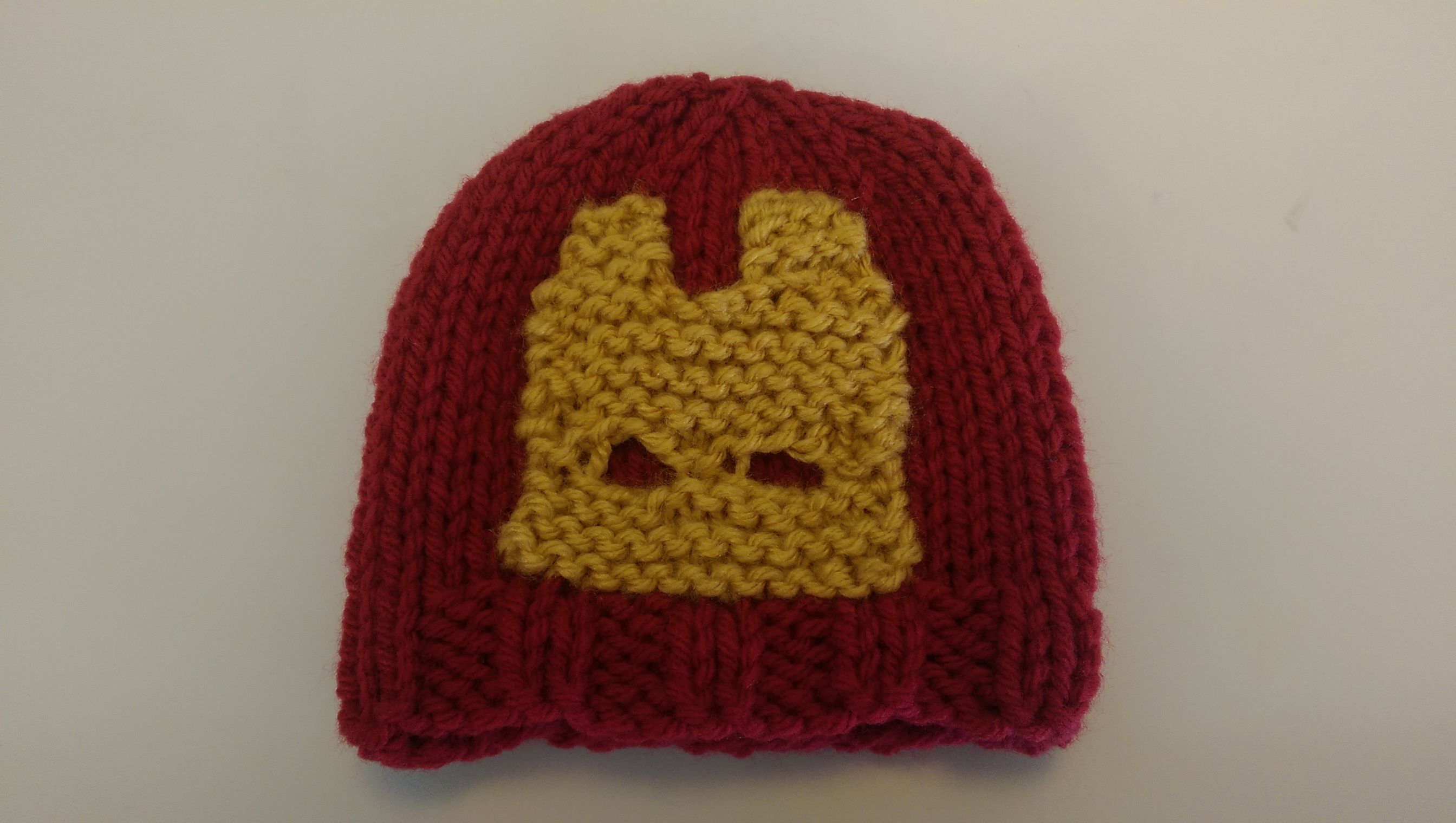 Ironman NICU baby hat   Preemie hats, Woven, Knitted hats