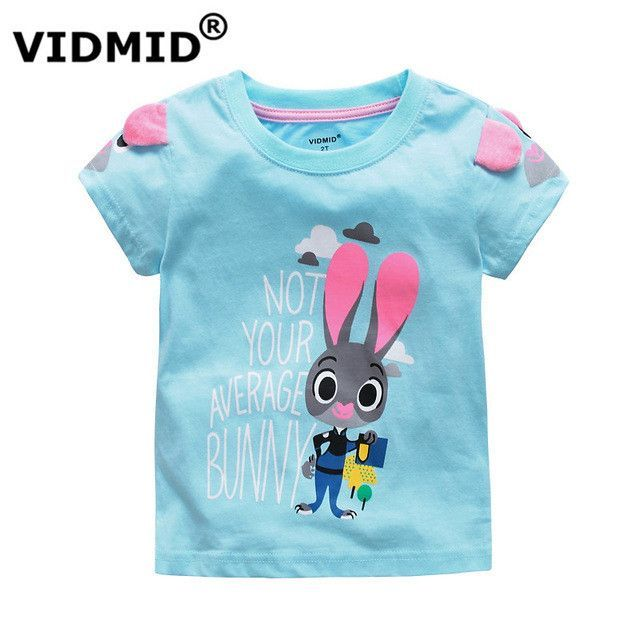 65e47b7e2a1 VIDMID 2-10 years baby Girl t-shirt big Girls tees shirts children blouse