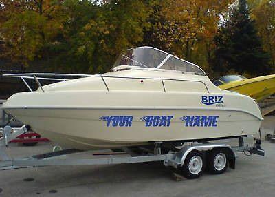 Boat Name Vinyl Custom Lettering Speedboat 11