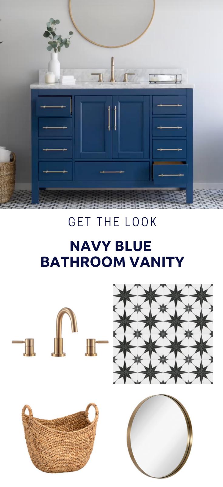 Navy Blue Bathroom Vanities Navy Blue Bathrooms Blue Bathroom