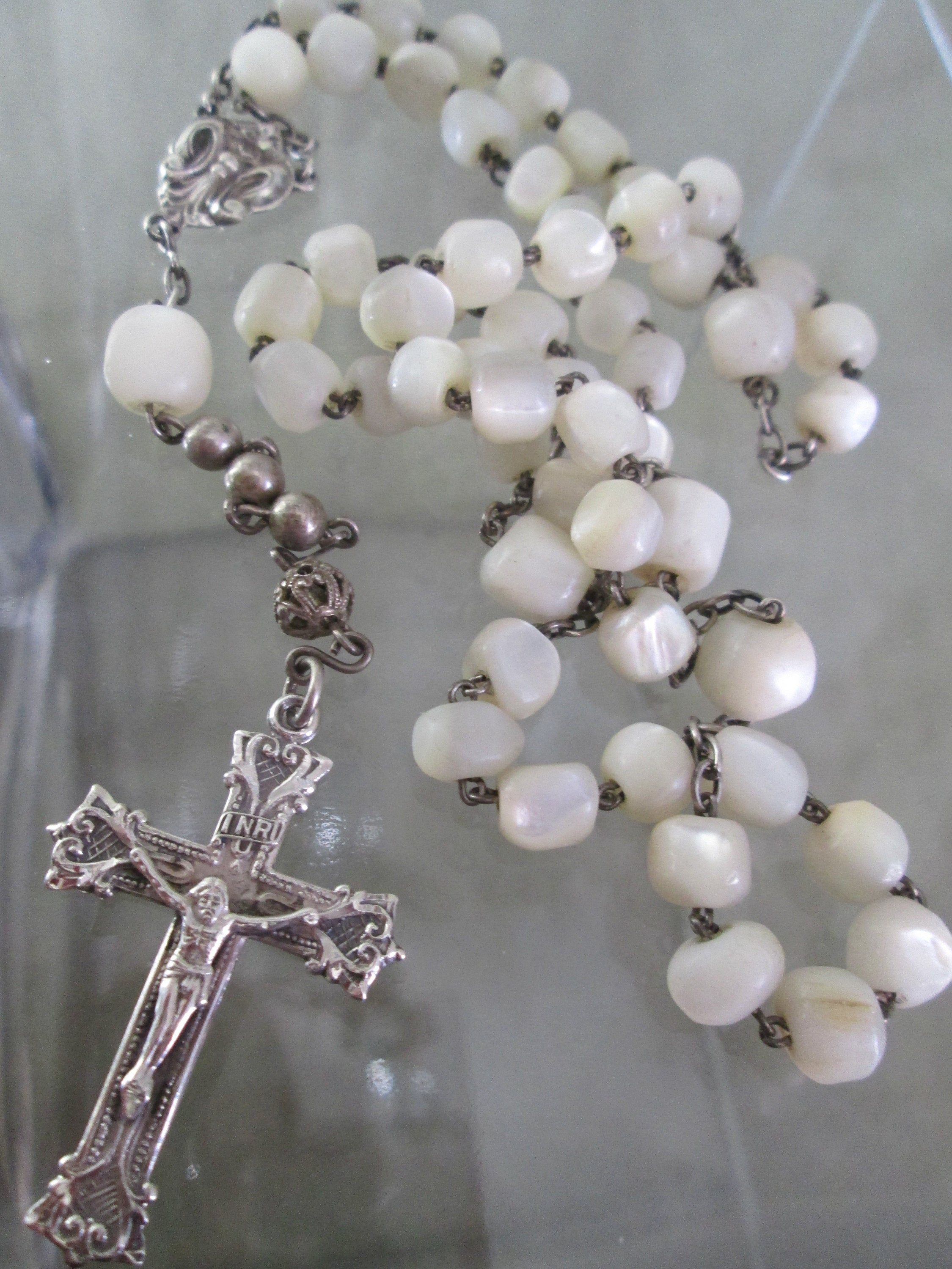 Vintage Sterling Silver Five Decade Rosary