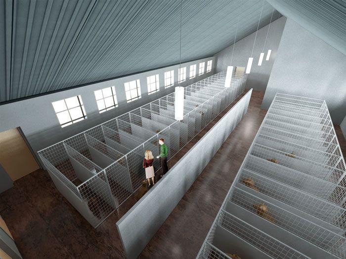 beautiful kennel building design plans #5: Dog Boarding Kennel Designs | Download Dog Kennel Floor Plans Software:  SmartDraw 7 Suite