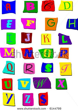 letters you can cut out scalable upper case cut out letters stock vector