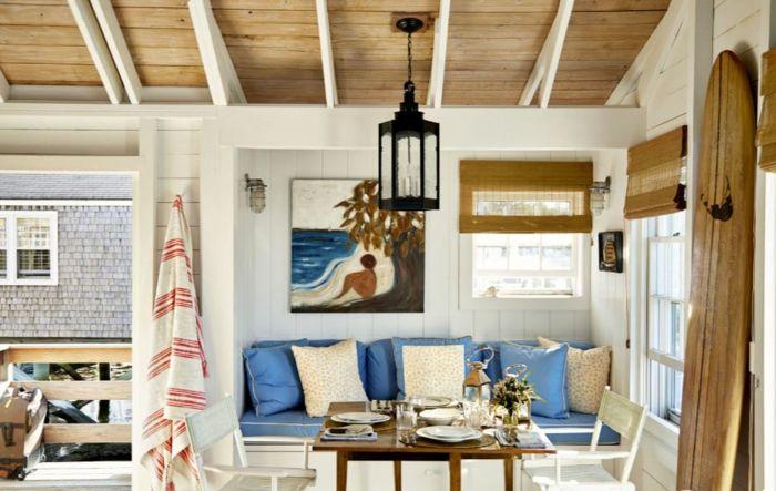 Maritimes Wohnzimmer einrichtungsbeispiele maritime deko krake blau wohnzimmer eingang