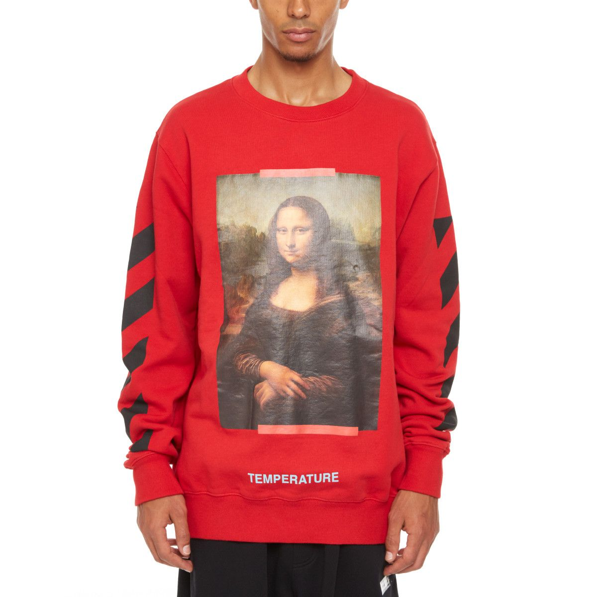 Monalisa Sweatshirt From The S S2018 Off White C O Virgil Abloh Collection In Red Personalized Clothes Off White Shop Sweatshirts [ 1200 x 1200 Pixel ]