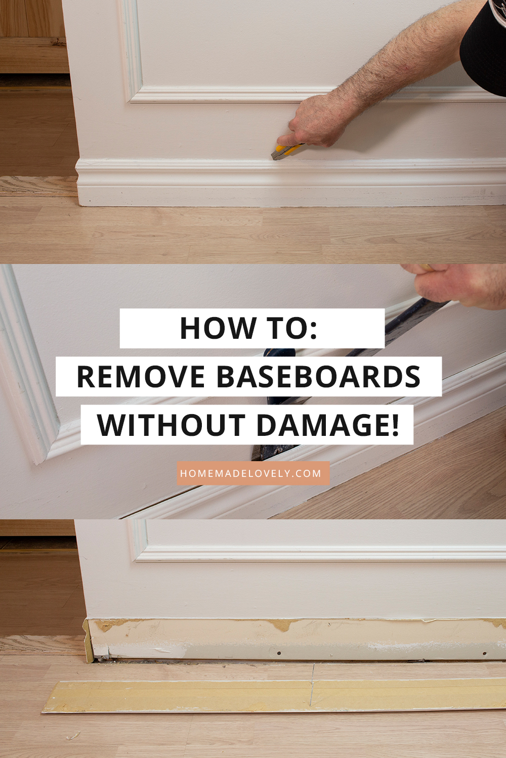How To Remove Baseboards Without Damage For Reuse In 2020 Removing Baseboards Baseboards Cleaning Hacks