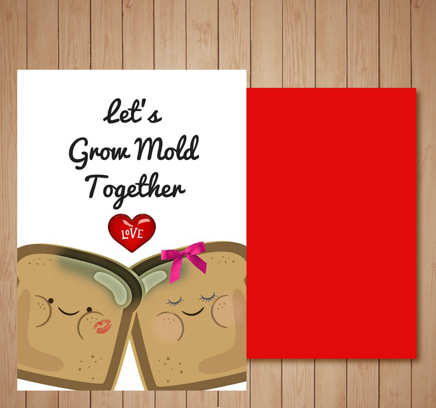 Cute Funny Valentines Day CardLets Grow Mold Together