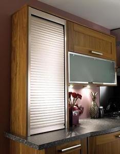 Tambour Door Kit Roller Shutter For Kitchen Unit 500 600mm Steel 1400mm High Kitchen Shutters Kitchen Modular Kitchen Units
