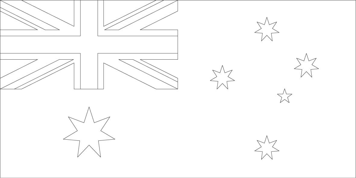 Australia Flag Coloring Pages With Images Flag Coloring Pages