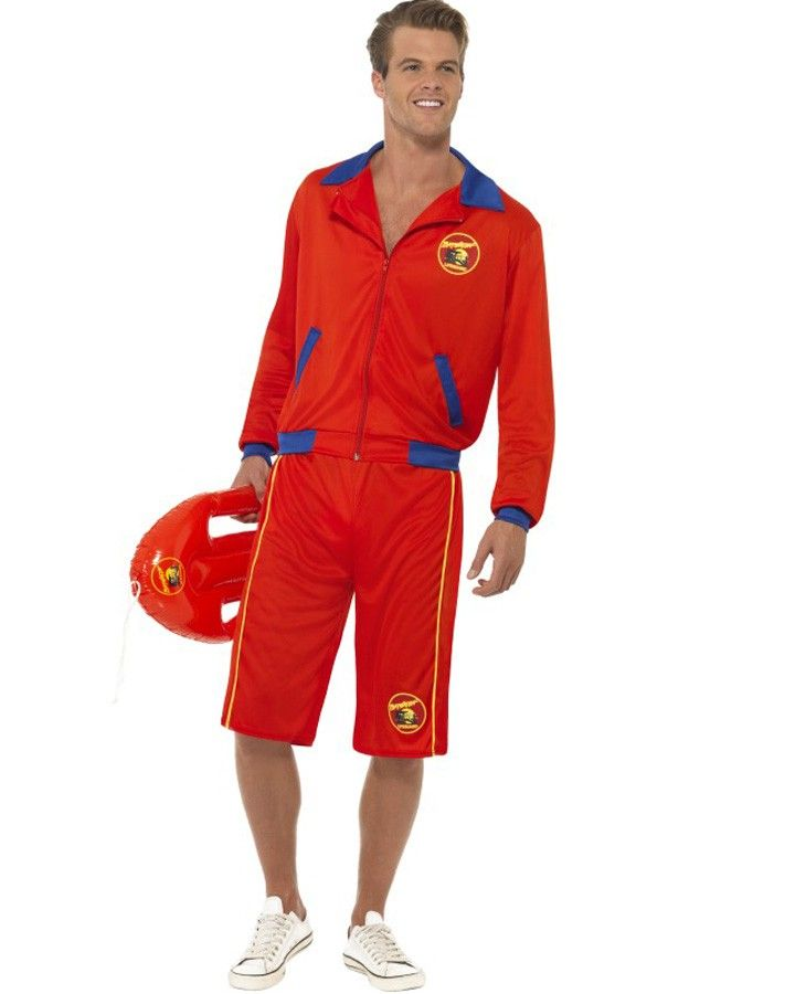 Baywatch Beach Lifeguard Mens Costume 90 S Summer Beach Party