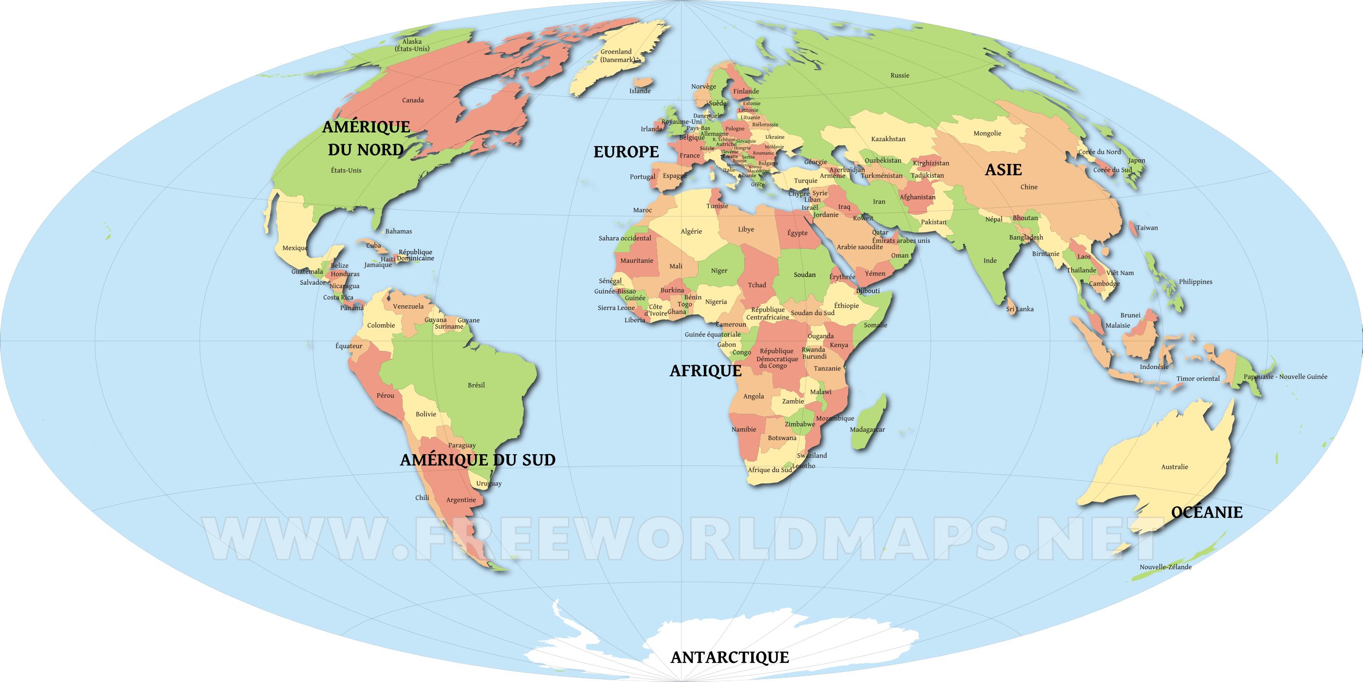 Grandecartedumondesimpleg 28001401 civisl pinterest printable world map countries of the world publicscrutiny Gallery