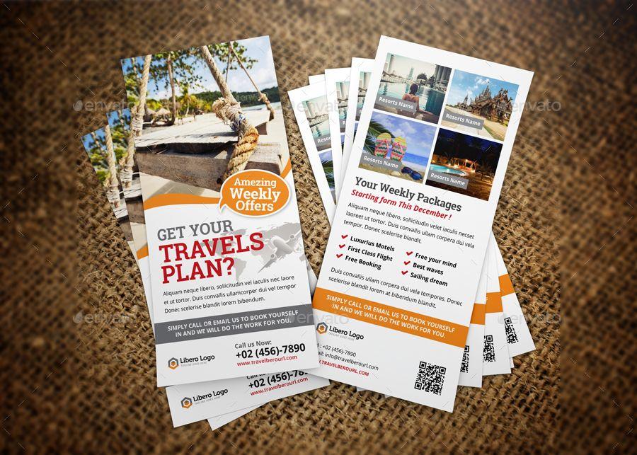 Travel Postcard Rackcard Dl Flyer Design V2 Corporate Pinterest