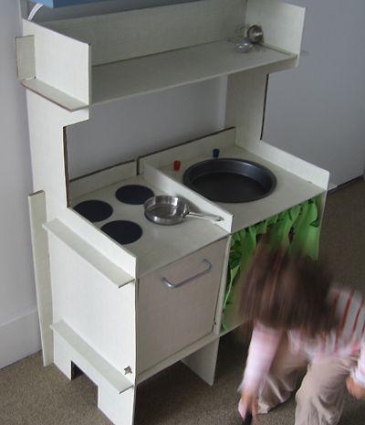 diy cardboard kitchen (corrugated cardboard covered in ...
