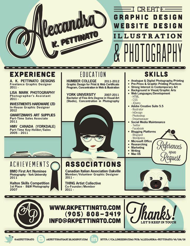 Qué te parece el CV de Alexandra? Currículum vitae - CV - freelance graphic designer resume