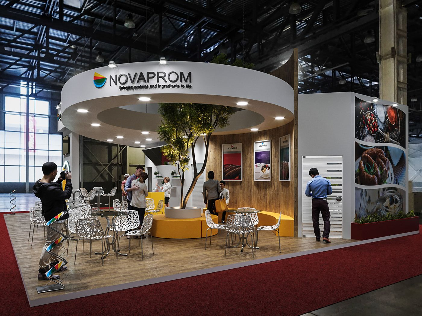 Exhibition Stall Reference : Stand novaprom on behance exhibitions exhibition booth design
