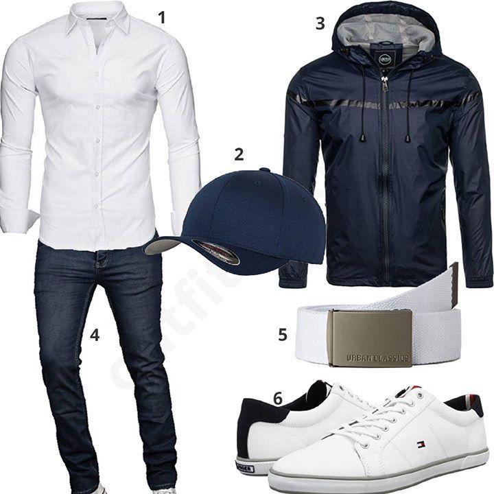 herren outfit in wei und navy blau m0521 outfit f r m nner 2018 pinterest herren outfits. Black Bedroom Furniture Sets. Home Design Ideas