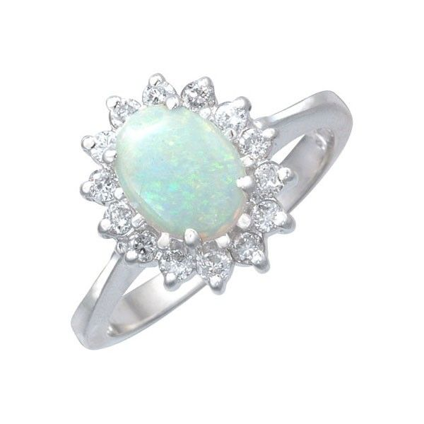 Opal and diamond ring Sparkly Pinterest Diamond Ring and