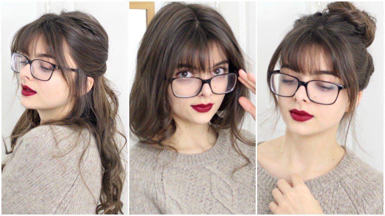 Super Easy Cute Hairstyles For Bangs Glasses Cute Simple Hairstyles Long Hair With Bangs Bangs And Glasses