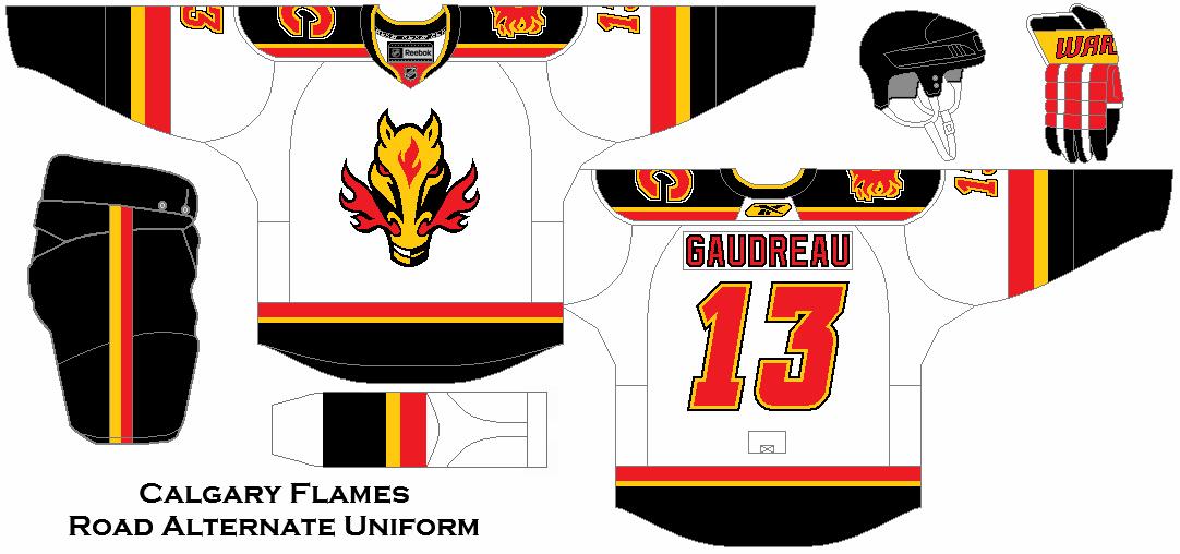 7edfae75d Calgary Flames Road Alternate Uniform Concept