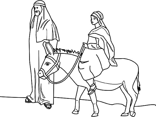 Mary And The Little Donkey Coloring Pages : Best Place to