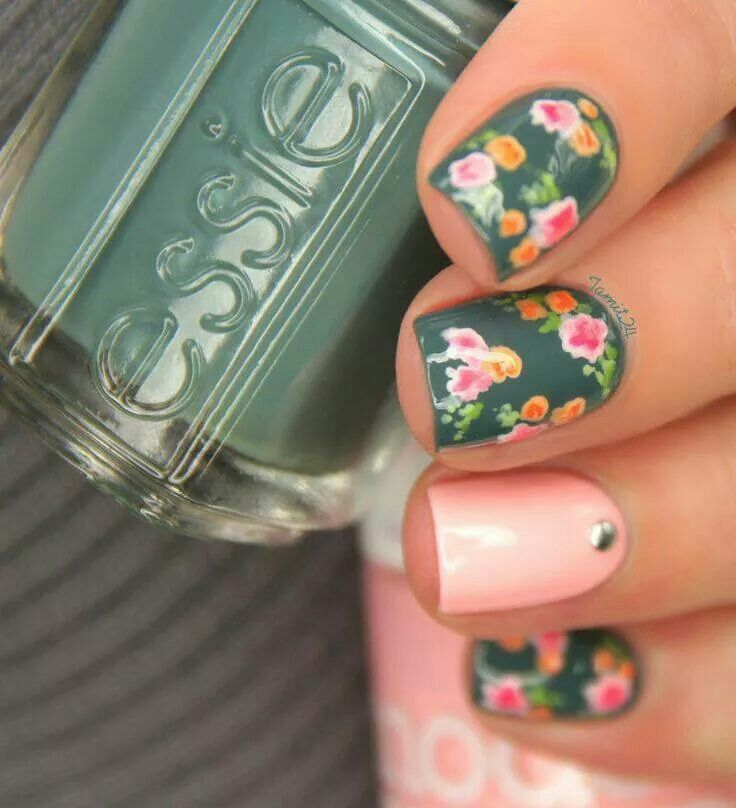 Floral Nails Nails And More Nails Pinterest