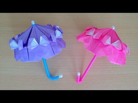 折り紙 カサ 立体 1枚の折り方 Niceno1 Origami Umbrella Use One Sheet Of Paper Youtube 折り紙 簡単 折り紙の封筒 折り紙