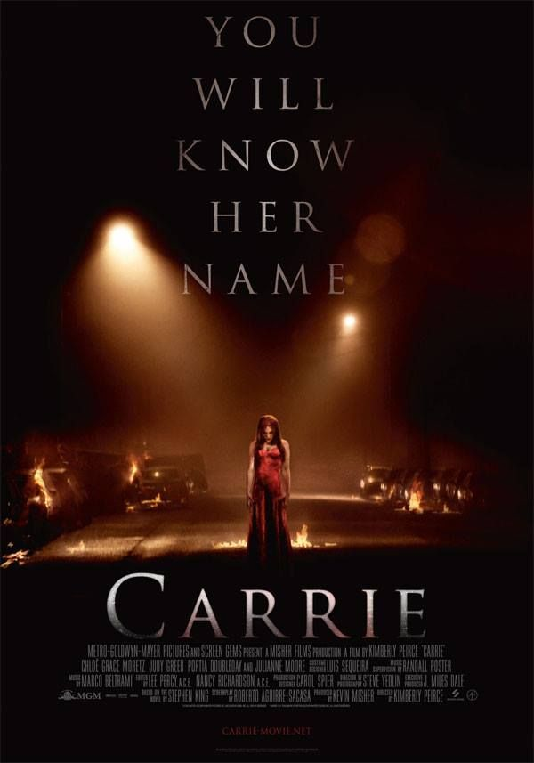 Carrie Carrie Movie Scary Movies Movie Posters